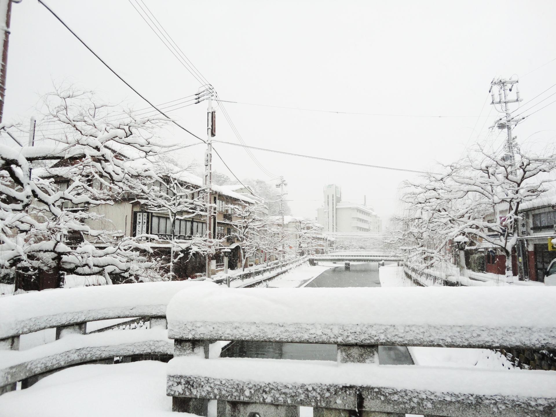 城崎温泉 雪